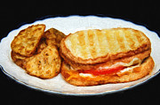 All - Panini Sandwich And Potato Wedges Painting by Andee Photography