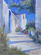 Crete Painting Originals - Pano Fourni by Jane Vogas
