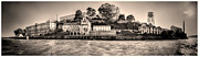 Wide Angle Framed Prints - Panorama Alcatraz Shaky Sepia Framed Print by Scott Campbell