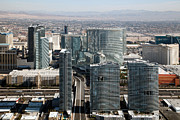 Vdara Prints - Panorama and City Center in Las Vegas Print by Bill Cobb