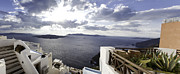 Panorama Greece Santorini 07 Print by Sentio Photography