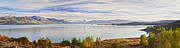 Region Posters - Panorama of Aoraki Mount Cook and Lake Pukaki New Zealand Poster by Colin and Linda McKie