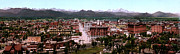 Urban Scenes Digital Art Prints - Panorama of Denver Print by Nomad Art And  Design