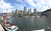 Oak Creek Photos - Panorama of False Creek  Vancouver BC skyline by Gino Rigucci