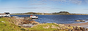 Ferry Photos - Panorama of Fionnphort and Iona Scotland by Colin and Linda McKie