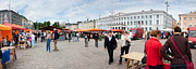 Panorama Of Helsinki Inner Harbor Panorama Print by Thomas Marchessault