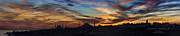 Turkish Photo Prints - Panorama of Istanbul Sunset- Call to Prayer Print by David Smith