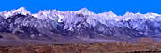 Mount Whitney Prints - Panorama Of Mount Whitney Print by David Salter
