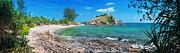 Panorama Of Pebble Beach Print by Atiketta Sangasaeng