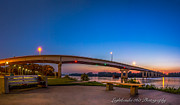 Fort Smith Arkansas Framed Prints - Panorama of the Garrison Ave. Bridge  Framed Print by Larry McMahon