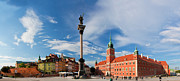 Polish Culture Framed Prints - Panorama of the old town in Warsaw Poland Framed Print by Michal Bednarek