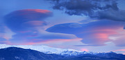Europe Framed Prints - Panoramic lenticular clouds over Sierra Nevada National Park Framed Print by Guido Montanes Castillo