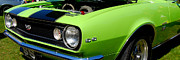 1968 Camaro Photos - panoramic lt. green Camaro by Mark Spearman