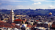 Holy Land Digital Art Framed Prints - Panoramic of Jerusalem Framed Print by Thomas R Fletcher