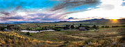 Prairie Photography Prints - Panoramic of Solider Ranch Print by Robert Bales