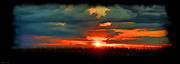 Photomanipulation Photo Prints - Panoramic Sunset - Digital Paint Print by Debbie Portwood