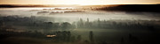 Simon Bratt Photography Acrylic Prints - Panoramic view of a misty morning Acrylic Print by Simon Bratt Photography