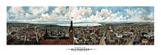 Hall Mixed Media Posters - Panoramic View Of Milwaukee Wisconsin Poster by War Is Hell Store