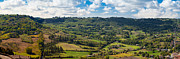 Italy Photo Prints - Panoramic View of Orvieto in Italy Print by Susan  Schmitz