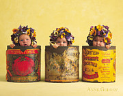 Down Photo Posters - Pansies Poster by Anne Geddes