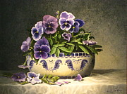 Purple Pansy Prints - Pansies Print by Sean Taber