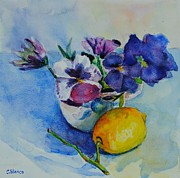 Celia Blanco - Pansies with Lemon