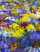 Purple Flowers Digital Art - Pansy party by Jessica Jenney