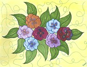 Pansy Posy Print by Susie WEBER