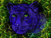 Art Mobile Digital Art - Panther Blues Electric by Billie Jo Ellis