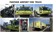 House Fires Framed Prints - Panther Hi-tech Fire Truck Framed Print by Daniel Hagerman