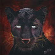 Panther Framed Prints - Panther Framed Print by Shirl Theis