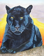 Alan Wilkinson - Panther.A study in blue.