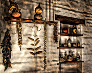 Old House Photographs Digital Art Prints - Pantry Print by Danuta Bennett