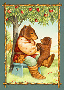 Papa Framed Prints - Papa Bear Framed Print by Lynn Bywaters