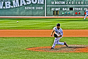 Red Sox Metal Prints - Papelbon Metal Print by Dennis Coates