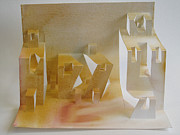 Paper Sculpture Art Sculpture Framed Prints - Paper Architecture Framed Print by Alfred Ng