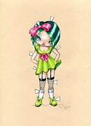 Doll Drawings - Paper Doll by Sour Taffy