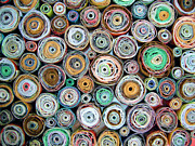 Offers Prints - Paper Rounds Print by Barbara Drake