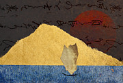 Landscape Mixed Media Prints - Paper Sail Print by Carol Leigh