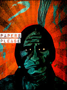 Iraq Paintings - Papers Please by Michelle Wilmot