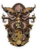 Papillon Mecaniques Print by Brian Kesinger