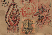 Grotesque Drawings - Papua Grotesque by Don Michael