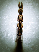 Wood Sculpture Posters - Papua New Guinea Ancestral Figure Poster by Natasha Marco