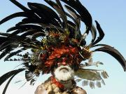Beards Prints - Papua New Guinea, Portrait Print by Jeremy Hunter