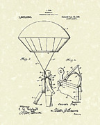 Sports Art Drawings Posters - Parachute 1918 Patent Art  Poster by Prior Art Design