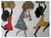 Felting Prints - Parade  Print by Bonnie Nash
