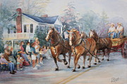 4th July Painting Prints - Parade Print by Linda Hall