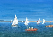 'parade Of Sail 2009' - West Kirby Marine Lake Print by Peter Farrow