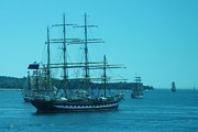 Old Ironsides Prints - Parade of Sailing Ships Print by John Malone