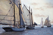 Sailing Prints - Parade of Sails Print by OMalley Keyes